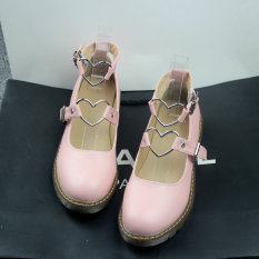 Spesifikasi Harajuku L*l*t* Gadis Sepatu Yang Lembut Sepatu Merah Muda Online