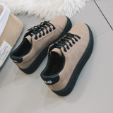 Miliki Segera Harajuku Musim Gugur Dan Dingin Baru Siswa Kanvas Sepatu Sepatu Wanita Coklat Muda