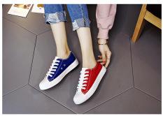 Harajuku Perempuan Baru Siswa Kets Putih Sepatu Kanvas (Merah And Biru Mantra Warna)