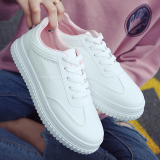 Harga Harajuku Perempuan Musim Gugur Baru Sepatu Kets Putih Sepatu Putih Merah Muda Sepatu Wanita Flat Shoes Termahal