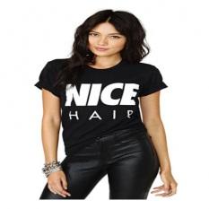 Harajuku Summer T-shirt Lengan Pendek Wanita Yang Bagus Letter Cetak Hitam T-shirt Gaya Korea Wanita Kasual T Kemeja Casual Wanita Tops-Intl