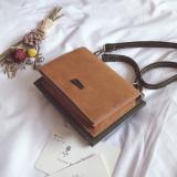 Spesifikasi Persegi Kecil Lulur Memukul Warna Dua Sisi Tas Kecil Coklat Lengkap