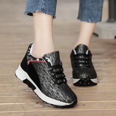 Harajuku Wanita Baru Sepatu Angsa Emas Kasual Sepatu Sneakers Kets Putih (1801 Hitam)