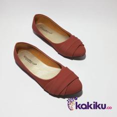 Harga Promo !!  Sepatu Flat Shoes Balet Wanita Gratica AW42 Merah Bata / Super Diskon  Ter-MURAH