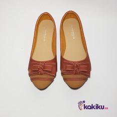 Harga Promo !!  Sepatu Flat Shoes / Flatshoes Wanita Gratica AW26 Bata Tan / Terlaris  Ter-MURAH