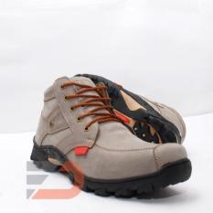 Harley 011 Sepatu Safety Boots Pria - Grey