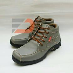 Toko Harley 024 Sepatu Safety Boots Pria Grey Lengkap