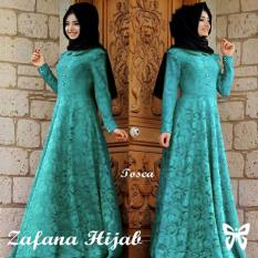Spesifikasi Hasanah Fashion Zafana Dress Tosca Lengkap
