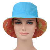 Beli Hat On Panegy Outdoor Upf 50 Sun Hat Double Sided Bucket Hat Topi Reversible Bonnie Caps Blue Intl Nyicil
