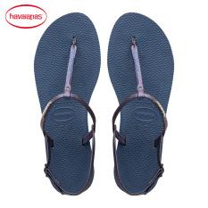 Havaianas Kulit Produk Baru Sendal Sandal Jepit (Biru Tua)