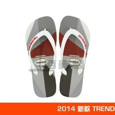 Havaianas Pria Tergelincir Jepit Kaki Geometris Sendal Sandal Jepit (Putih 2014 Baru)