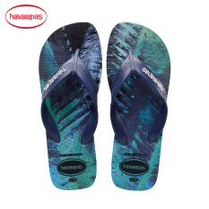 Havaianas Produk Baru Tergelincir Model Pria Sendal Sandal Jepit (Biru Tua Warna)