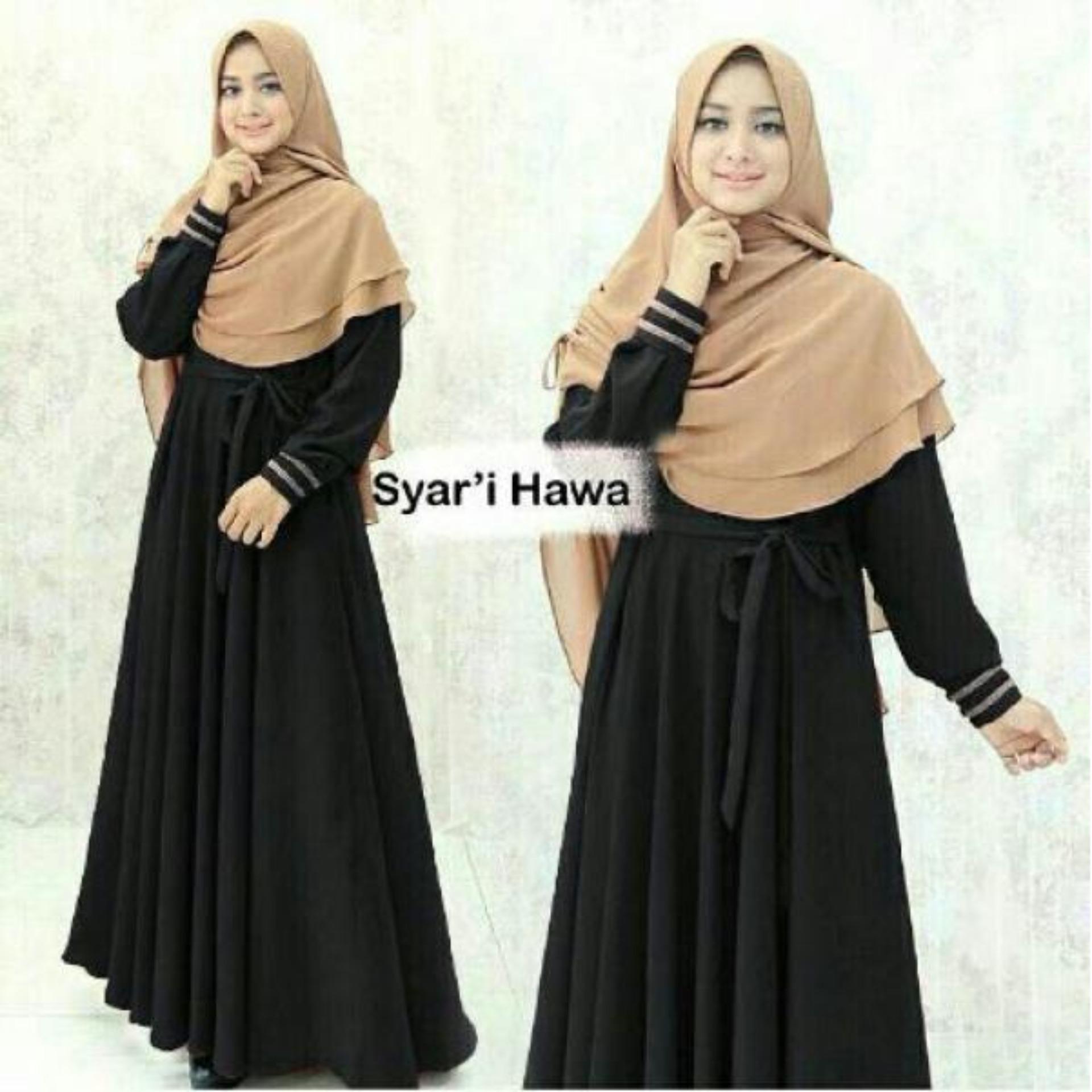 Harga Diskon Ratucouple Gamis Baju Kurung Syari Hijab Muslim Syar  03 Hawa Muslimah Wanita Fashion Murah Terbaru Pakaian Pesta Amunzen