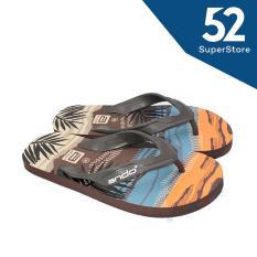 Ando Sandal Jepit/Flip Flop Pria Hawaii Beach - Coklat Size 38/42