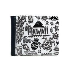 Kepulauan Hawaii Merayakan Siluet Amerika Flip Bifold Faux Kulit Dompet Multi-Fungsi Kartu Dompet Hadiah-Intl