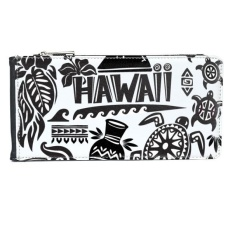 Kepulauan Hawaii Merayakan Siluet Amerika Multi-Kartu Faux Kulit Rectangle Dompet Kartu Dompet Hadiah-Intl