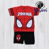 Harga Hayami Baju Kaos Anak Laki Laki Spiderman Merah Lengkap