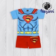 Dimana Beli Hayami Baju Kaos Anak Laki Laki Superman Biru Hayami