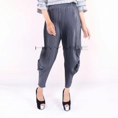 Beli Haymeestore 1012 Celana Plisket Jogger Wanita Celana Pleats Cubyt Wanita Kantor Casual Fashion Wanita Olive Secara Angsuran