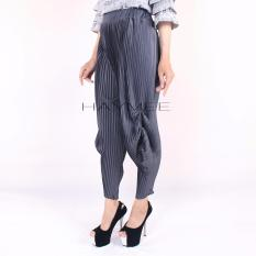 Beli Haymeestore Celana Plisket Jogger Wanita Celana Pleats Cubyt Cewek Bawahan Kantor Casual Fashion Wanita Abu Tua Haymee Asli