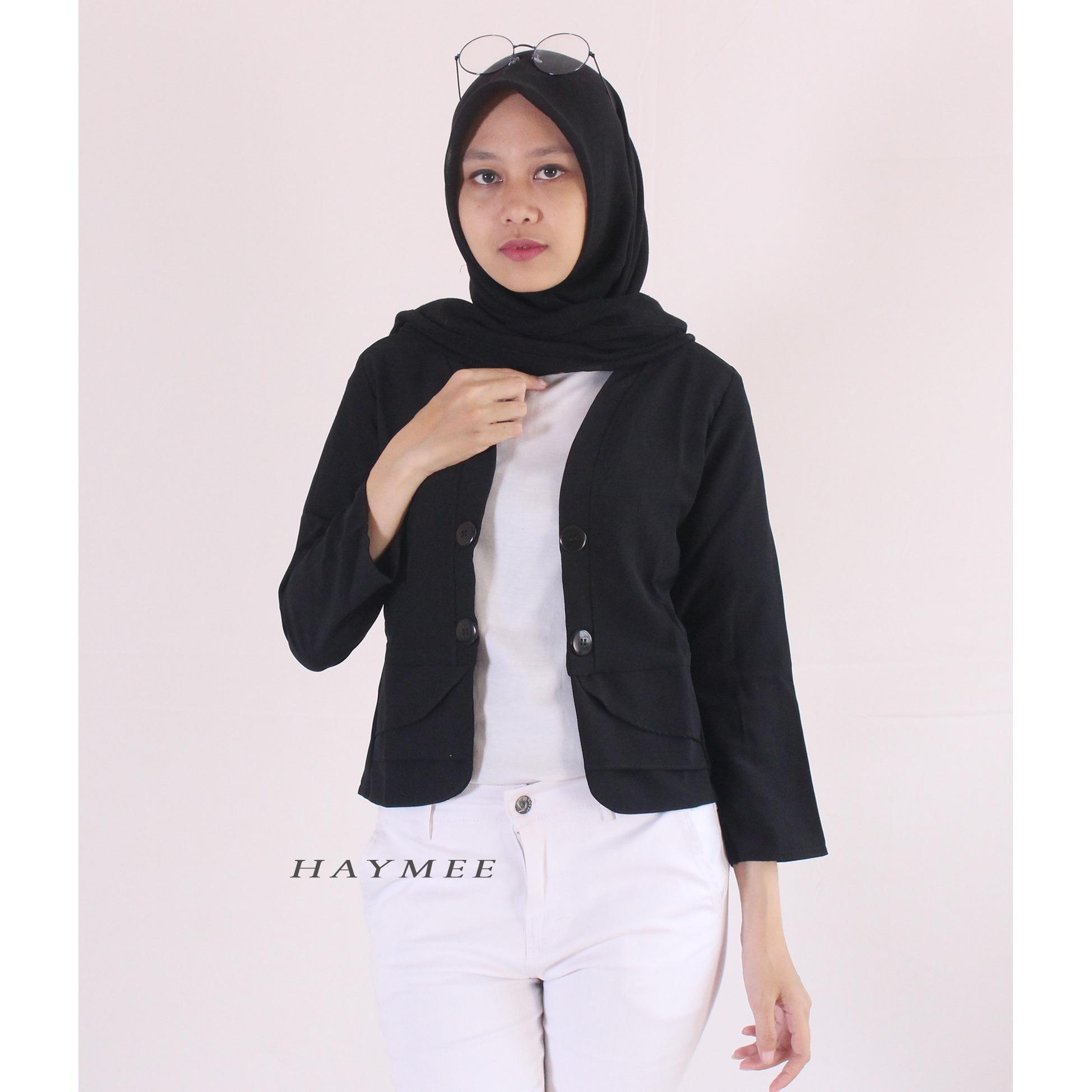 Pencari Harga HaymeeStore Blazer Wanita Outer Cardigan Cewek Pakaian Formal Cewe Jas Kantor Long Slave Premium