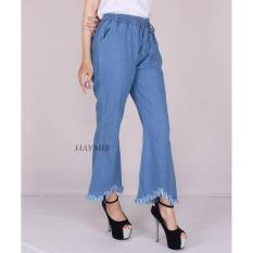 Jual Haymeestore Celana Boyfriend Cutbray Wanita Jeans Cutbrai Cewek Celana Denim Cewe Bawahan Cutbray Premium Grosir