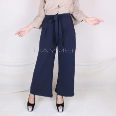 Spek Haymeestore Celana Kulot Panjang Wedges Wanita Celana Cullot Wafle Scrub Cewek Kantor Casual Fashion Premium Banten