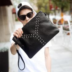 Harga Hb6618 Handbag Kulit Pria Etonweag Tas Tangan Clutch Man Trend Rivet Universal Terbaik