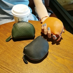 Head layer leather small change wrap female short style of the mini and lovely coin wrap Korea to revive old customs lady's small small change of leather to wrap tide - intl