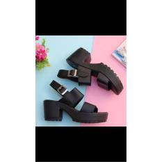 heels 2 ban gesper hitam