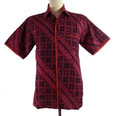 Hem Batik Exclusive Slim Fit 4-HM3007-Merah
