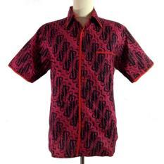 Hem Batik Exclusive Slim Fit-HM3006-Merah