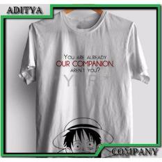 Hemat Kaos Tshirt Gildan Premium Sablon Polyflex Custom One Piece Luffy Oke Punya