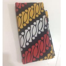 Henan Batik Cirebon - Kain Batik Cap Motif liris parang 29197 Merah kuning