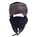 Promo Hengsong Masker Topi Topi Musim Dingin Wol Tahan Terhadap Udara Agar Tetap Hangat Biru Laut Tiongkok