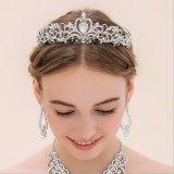 Ulasan Baru Elegan Mewah Crown Pernikahan Pengantin Crystal Ikat Kepala Rambut Band Aksesoris 1 Intl Hengsong