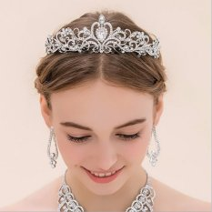 Toko Baru Elegan Mewah Crown Pernikahan Pengantin Crystal Ikat Kepala Rambut Band Aksesoris 1 Intl Hengsong Lengkap