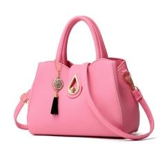 HengSong Baru Busana Tas Tas Bahu Wanita Messenger Tas Kulit Berkualitas Tinggi Lady Dompet Fashion Elegan 6 Warna (Pink) -Intl