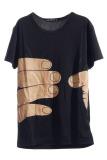 Spesifikasi Hengsong Leher Bulat Lengan Bang Pendek Kaos Hitam Hengsong