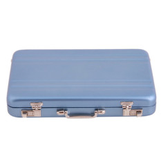 Spesifikasi Hengsong Gaya Koper Metal Business Card Holder Cardfile Biru Yg Baik