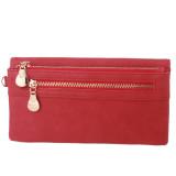 Harga Hengsong Pu Kulit Dompet Panjang Wanita Tas Elegan Merah Hengsong
