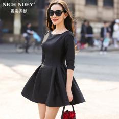 Toko Hepburn Baru Lengan Slim Hitam Gaun Ball Gown Hitam Termurah Di Tiongkok