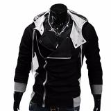 Beli Hequ Aliexpress Explosion Of Assassin S Creed Sweater Oblique Zipper Hooded Jacket Men S W20 Black Intl Online Murah