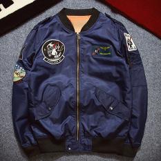 Hequ NASA Jaket Bomber Pria Wanita Pilot MA1 Pria Mantel Musim Dingin Hombre Jaqueta Penerbangan Angkatan Udara Bisbol Angkatan Laut-Internasional