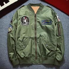 Hequ Nasa bomber Jacket men Women Pilot MA1 man Coat winter hombre Jaqueta Flight Air Force Baseball Army Green - intl