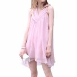 Jual Hequ Musim Panas Chiffon Maternity Gaun Tanpa Lengan Putri Paragraf Pakaian Wanita Hamil Gaun Pink Intl Hong Kong Sar Tiongkok Murah