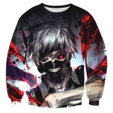 Harga Hequ Tokyo Ghoul Sweatshirt Pria Baru Ken Kaneki 3D Sweatshirt Pria Crewneck Casual Fashion Slim Fit Anime Hoodie Hitam Intl Online Hong Kong Sar Tiongkok
