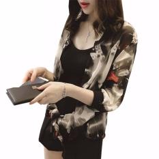 Harga Hequ Wanita Chiffon Cardigan Kimono Cetak Musim Panas Pantai Blus Sifon Kemeja Tabir Surya Cardigans Multicolor Termahal