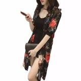 Beli Hequ Wanita Chiffon Cardigan Kimono Cetak Musim Panas Pantai Blus Sifon Kemeja Tabir Surya Kardigan Merah Intl Kredit