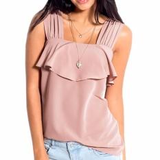 Jual Hequ Wanita Renda Solid Camisole Wanita Tali Lebar Tops Summer Beach Tank Tops Pink Intl Branded Original